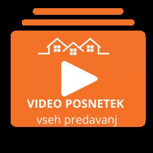 Video posnetek predavanj